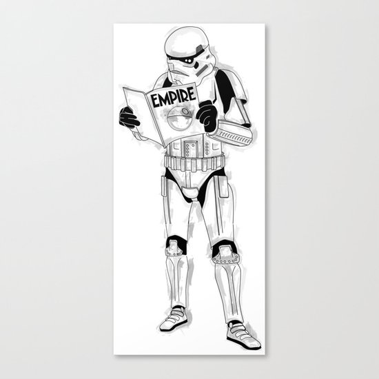 Stormtrooper Empire  Canvas Print