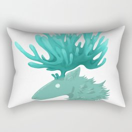 Ghost deer Rectangular Pillow