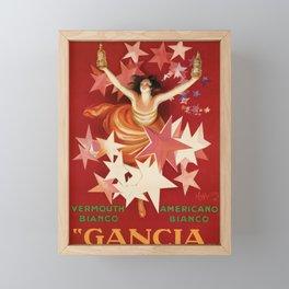 Vintage 1921 Italian Gancia Vermouth Advertisement by Leonetto Cappiello Framed Mini Art Print