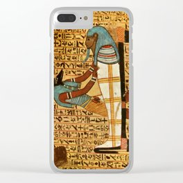 Ancient - Egyptian Wall Paintings 1956, Tomb of Amennakht Clear iPhone Case