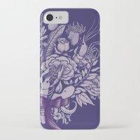victorian iPhone & iPod Cases featuring Undersea Victorian by Lidija Paradinović Nagulov - Celandine