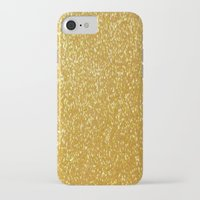 gold glitter iPhone & iPod Cases featuring GOLD GLITTER by I Love Decor