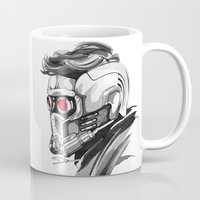 star lord Mugs featuring Star Lord by Dik Low