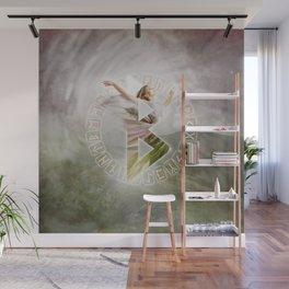 Berkana Rune  Digital Art Collage Wall Mural