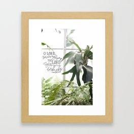 You are my Lamp     2 Samuel 22:29 Framed Art Print