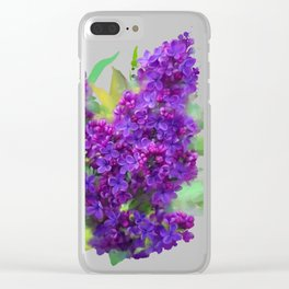 Watercolor Lilac Clear iPhone Case