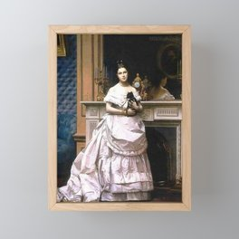 Jean-Léon Gérôme - Portrait of Marie Gérôme Framed Mini Art Print