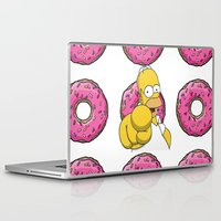 simpson Laptop & iPad Skins featuring Serious Homer Simpson by Yuliya L