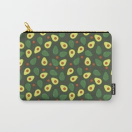 Green and Yellow Avocados Pattern Carry-All Pouch