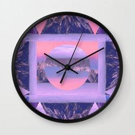 Mountain Duplicates Wall Clock