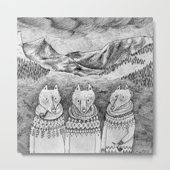 Icelandic foxes Metal Print