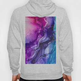 Abstract Vibrant Rainbow Ombre Hoody