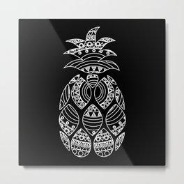 Ornate pineapple - inverted Metal Print