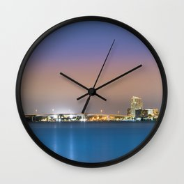 Downtown Clearwater at Night Wall Clock