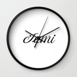 Name Jami Wall Clock