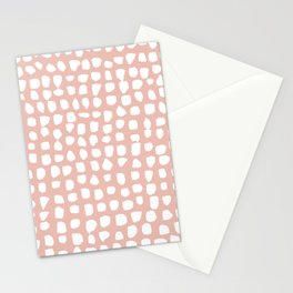 Dots / Pink Stationery Cards