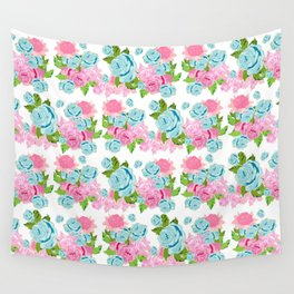 Shabby Chic Floral Tropical Bouquet Wall Tapestry