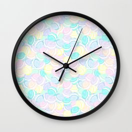 Many Macarons Treat Repeat Wall Clock