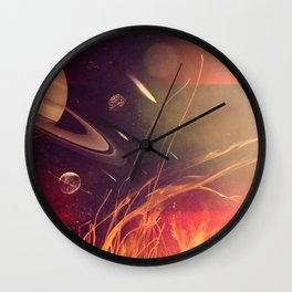 Space Fire Wall Clock