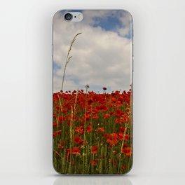 English Poppy scene. iPhone Skin