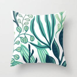 UniCorn Leaves Pattern Throw Pillow