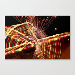 Abstract Xmas Lights Sculpting Canvas Print