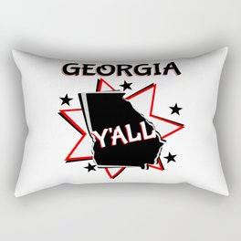 Georgia State Y'all Rectangular Pillow