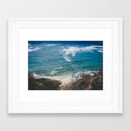 Surfer meets Sea - Diamond Head / Oahu / Hawaii Framed Art Print