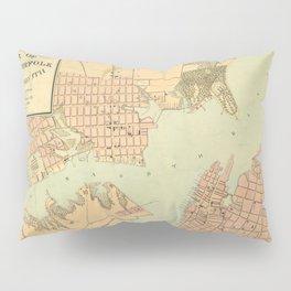 Vintage Norfolk and Portsmouth VA Harbor (1861) Pillow Sham