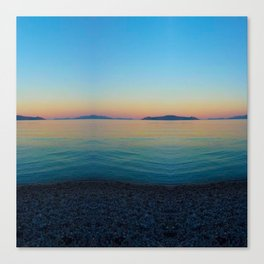 Sunset Greek Island Canvas Print
