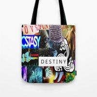 destiny Tote Bags featuring Destiny by Aldo Couture