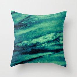 Turquoise marble Throw Pillow