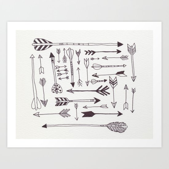 Arrows - B + W Art Print