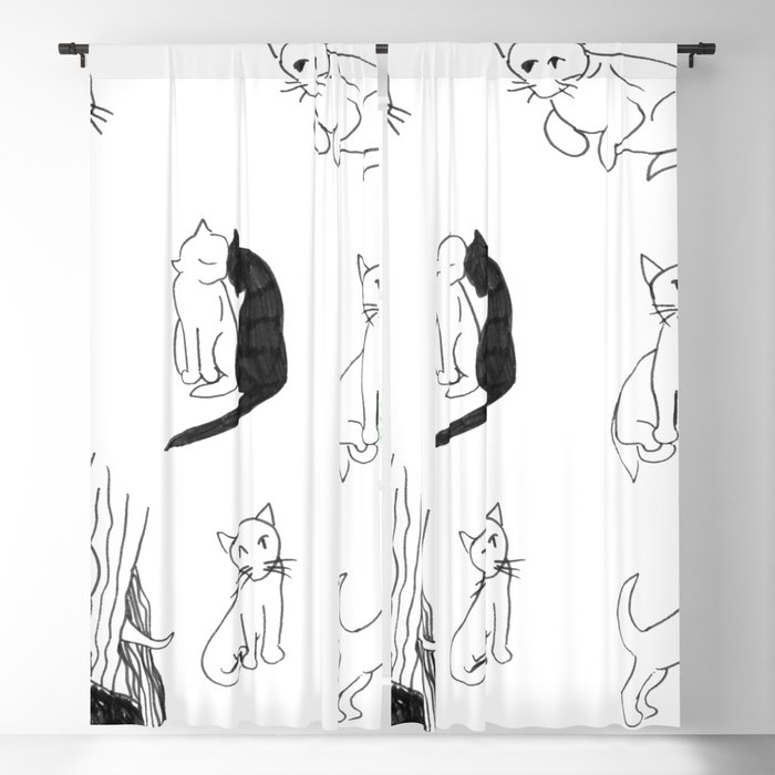 Cat Expressions Blackout Curtain