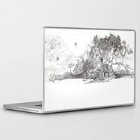 the moon Laptop & iPad Skins featuring Moon by Nayoun Kim