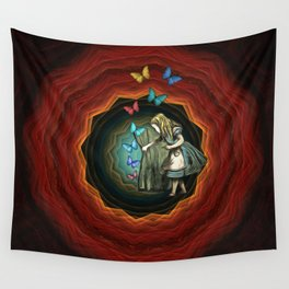Alice In Wonderland - Let The Magic Begin Wall Tapestry