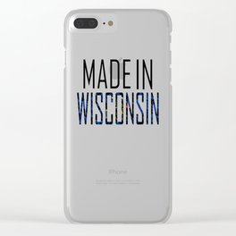 Made In Wisconsin Clear iPhone Case