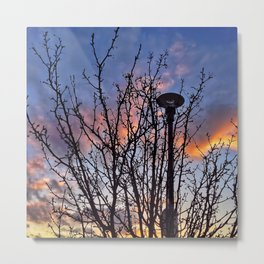 Sunsets and a Lamppost  Metal Print