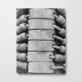 """Rigging on Dutch sailship """"De Arend"""" Metal Print"""