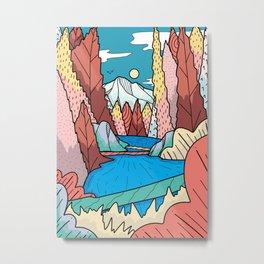 A view downstream Metal Print