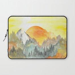 Mountain Glowing Sunset Laptop Sleeve