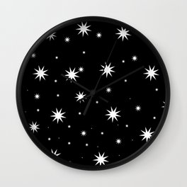 Starry Stars Wall Clock