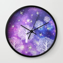 Space Trees Wall Clock