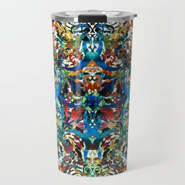 Bold Pattern Art - Color Fusion Design 8 By Sharon Cummings Travel Mug