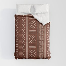 rust mud cloth Comforters