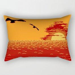 Bluebirds Rectangular Pillow