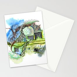 Spring Spiral Stationery Cards
