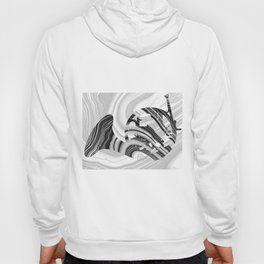Marbled Music Art - French Horn - Sharon Cummings Hoody