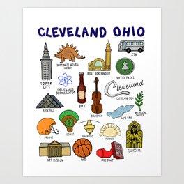 Cleveland Ohio Landmarks Art Print
