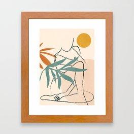 Minimal Line in Nature II Framed Art Print